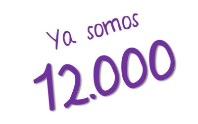 Ya somos 12.000, Gracias